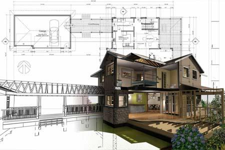Эскизный проект – набор документов, схем и чертежей, который содержит данные о разрабатываемом объекте. Разделы: ген.план с посадкой дома, планировки комнат, внешние фасады дома.